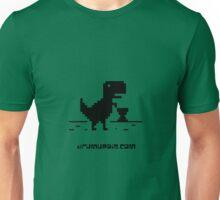 Drum Up Big T-rex _Black Unisex T-Shirt