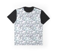 Watercolor Space and Circles Graphic T-Shirt