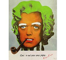 Oompa Loompa Self Portrait With Surreal Pipe Photographic Print