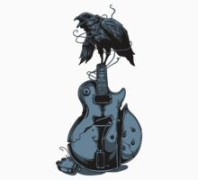 The Raven and The Broken Guitar by wordsonashirt