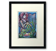 Kitting Mermaid Framed Print