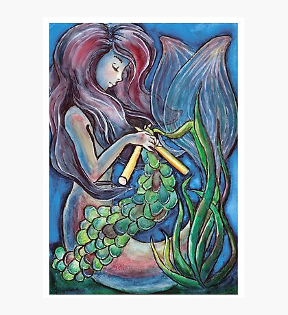 Kitting Mermaid Photographic Print