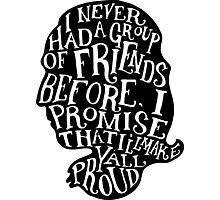 Alexander Hamilton Friends Quote Silhouette Photographic Print