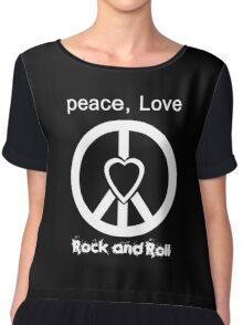 Peace, Love, Rock and Roll  Chiffon Top