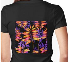 Psychedelic Fall, vibrant fall leaves nature pattern Womens Fitted T-Shirt
