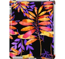 Psychedelic Fall, vibrant fall leaves nature pattern iPad Case/Skin