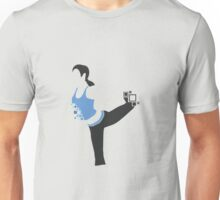Pixel Silhouette: Wii Fit Trainer (Female) Unisex T-Shirt