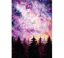 Watercolor Space And Dark Firs Photographic Print