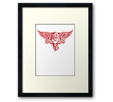 Detroit Red Wings - Florida Panthers Logomash Framed Print