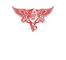 Detroit Red Wings - Florida Panthers Logomash Photographic Print