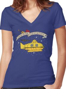This Is An Adventure Women's Fitted V-Neck T-Shirt