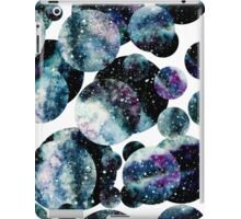 Watercolor Blue Nebula In Circles iPad Case/Skin