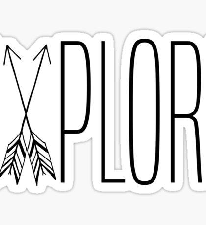 Explore With Arrows Sticker