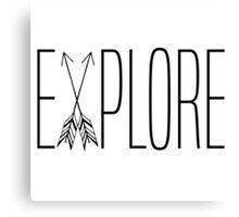 Explore With Arrows Canvas Print