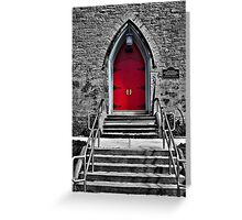 Red Door - selective colour Greeting Card