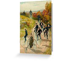 """BICYCLE"" Vintage (1887) Ride in The Park Print Greeting Card"