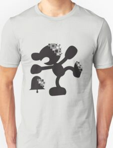 Pixel Silhouette: Mr Game and Watch Unisex T-Shirt