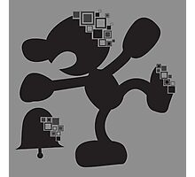 Pixel Silhouette: Mr Game and Watch Photographic Print