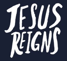 Jesus Reigns x Navy Kids Tee