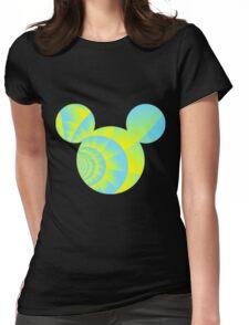 Swirly Mickey Womens Fitted T-Shirt