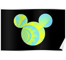 Swirly Mickey Poster