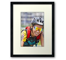 A Biker's Smile from Iron Man 70.3 - Philippines Framed Print