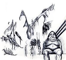 Sketches by Jeno Futo