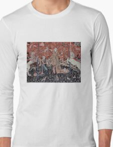Lady & the Unicorn Tapestry Long Sleeve T-Shirt