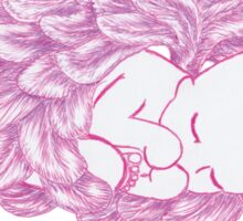 Angel Winged Baby Girl Sticker