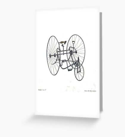 A Fancy Ride in White Greeting Card