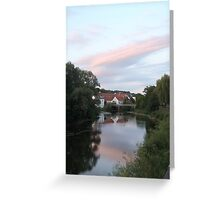 Dusk over the river Greeting Card