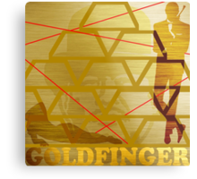Goldfinger Metal Print