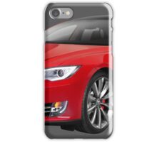 Tesla Model S red luxury electric car photo iPhone Case/Skin
