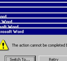 windows 98 error message Sticker