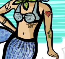 mermaid pinup Sticker