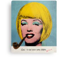 Bob Marilyn Monroe with surreal pipe Metal Print