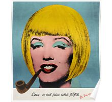 Bob Marilyn Monroe with surreal pipe Poster