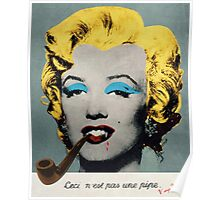 Vampire Marilyn with surreal pipe Poster
