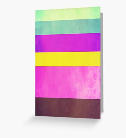 Abstraction #108 Multicolor Blocks Greeting Card