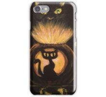 Black Cat Glow iPhone Case/Skin