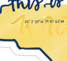 This is home -uncg  Sticker