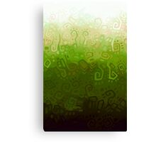 Green gradient Canvas Print