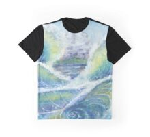 Ocean Waves Whirlpool Graphic T-Shirt