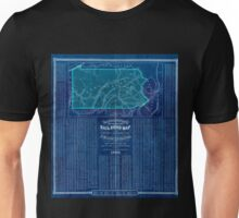 0166 Railroad Maps Barringtons new and reliable railroad map and shippers travellers guide of Pennsylvania Engrd by Ths Leonhardt Inverted Unisex T-Shirt