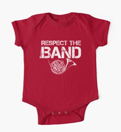 Respect The Band - French Horn (White Lettering) One Piece - Short Sleeve