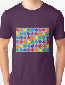 Glowing Dabs of a Rainbow   Unisex T-Shirt