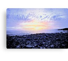 Pebbles on the Shore Canvas Print