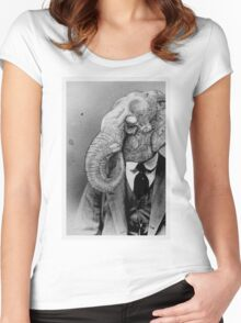 Elephant Man. Women's Fitted Scoop T-Shirt