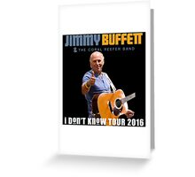 J. BUFFET LOGO 2016 TOUR RSBT Greeting Card