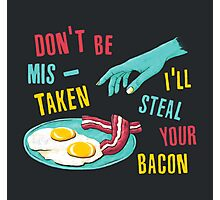 Bacon Thief Photographic Print